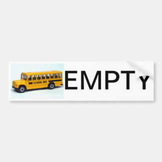 BUS EMPTY sticker