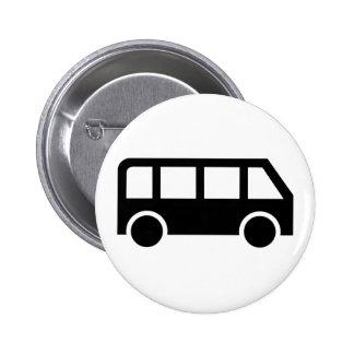 Bus icon 2 inch round button