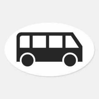 Bus icon oval sticker