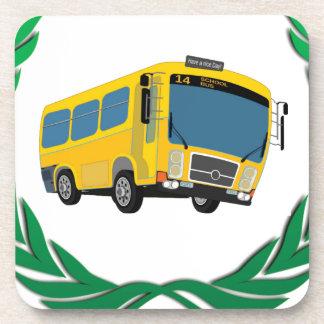 bus in green coaster