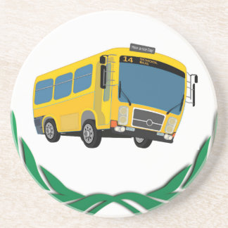 bus in green coasters