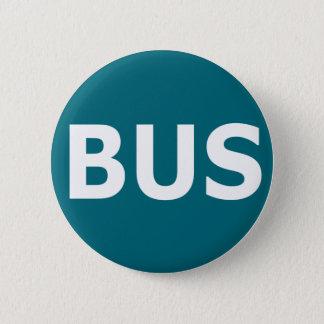 BUS logo - Blau 2 Inch Round Button