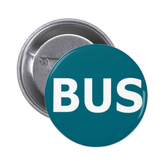 BUS logo - Blau 2 Inch Round Button