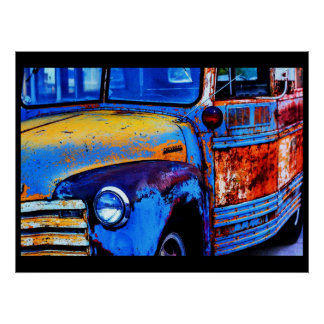 Bus of Many Colors Poster