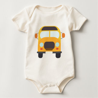 Bus School Drawing Baby Bodysuit