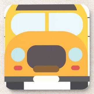Bus School Drawing Coaster