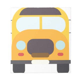 Bus School Drawing Notepad