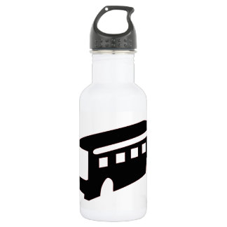 Bus Silhouette 532 Ml Water Bottle