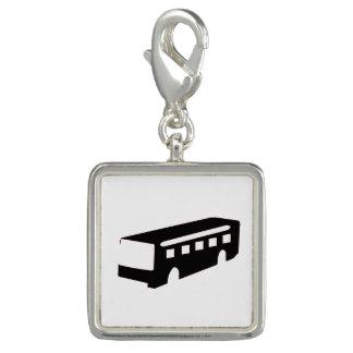 Bus Silhouette Charm