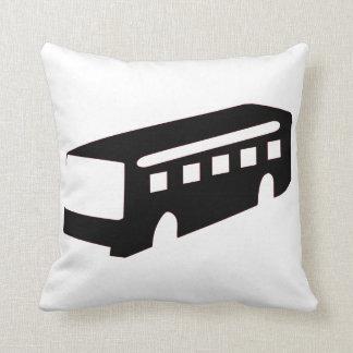Bus Silhouette Throw Pillow