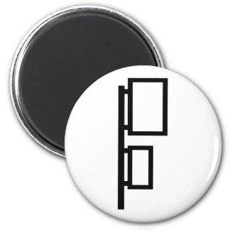 Bus station 2 inch round magnet
