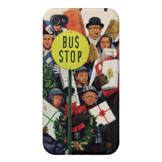 Bus Stop at Christmas iPhone 4/4S Cases