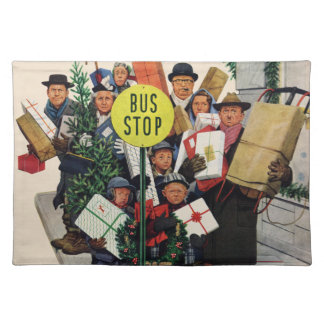 Bus Stop at Christmas Placemat