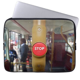 Bus STOP button laptop sleeve