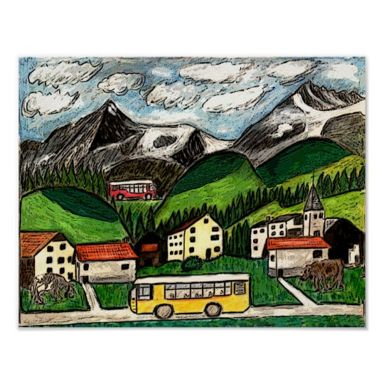 Bus Travel Poster