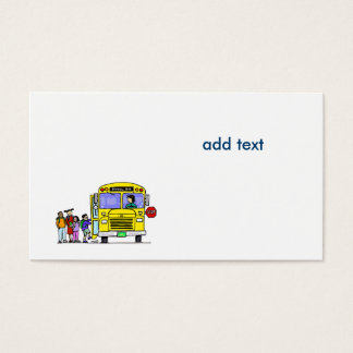 school bus business cards and business card templates zazzle canada. Black Bedroom Furniture Sets. Home Design Ideas
