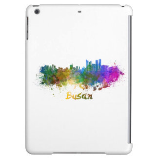 Busan skyline in watercolor iPad air cases