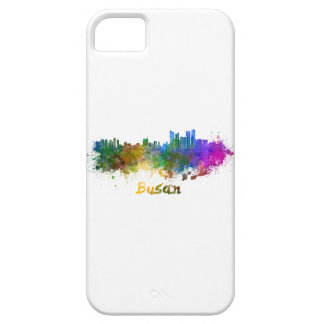 Busan skyline in watercolor iPhone 5 covers