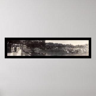 Busch Garden Pasadena Photo 1911 Poster
