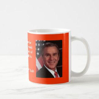 Bush 2 classic white coffee mug