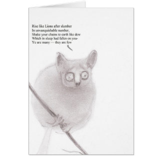 Bush baby anarchist card