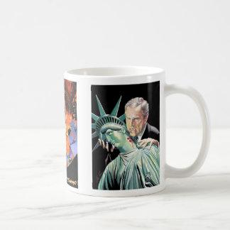 bush classic white coffee mug