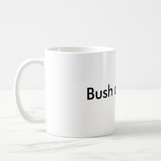 Bush did 9/11 classic white coffee mug