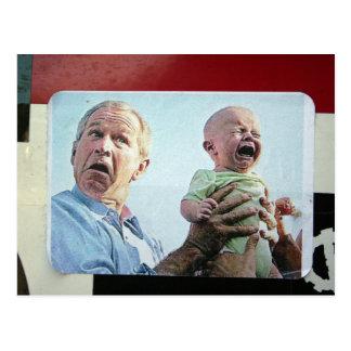 Bush Droppin' Babies Like Bombs Postcard