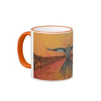 Bush fire escape coffee mug