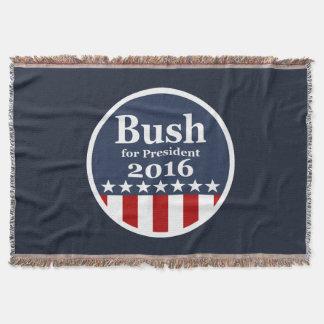Bush for President 2016 Throw Blanket