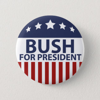 Bush For President 2 Inch Round Button