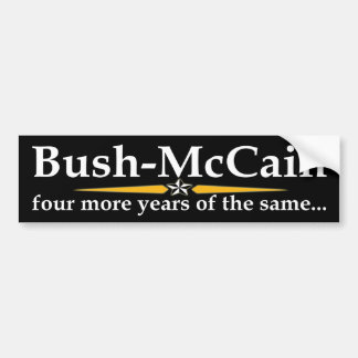 Bush-McCain Bumper Sticker