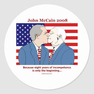 Bush-McCain Kiss Sticker