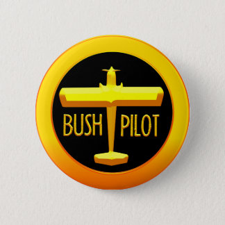 Bush Pilot 2 Inch Round Button