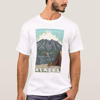 Bush Plane & Fishing - Fairbanks, Alaska T-Shirt