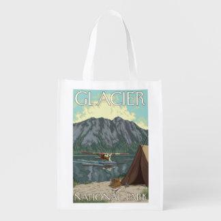 Bush Plane & Fishing - Glacier National Park, MT Grocery Bags