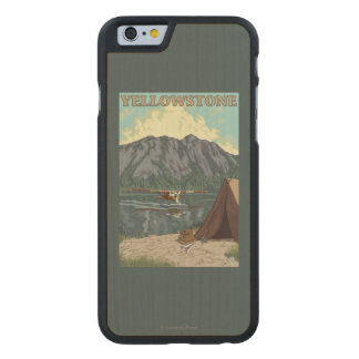 Bush Plane & Fishing - Yellowstone National Carved Maple iPhone 6 Case
