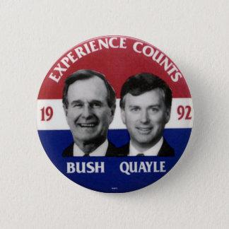 Bush-Quayle jugate - Button