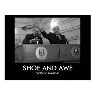 BUSH Shoe and Awe Postcard