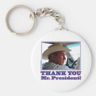 Bush-Thank-You Basic Round Button Keychain