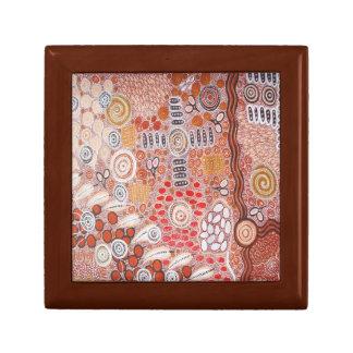 Bush Tucker Aboriginal Jewelry Keepsake Box