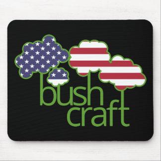 Bushcraft USA flag Mouse Pad