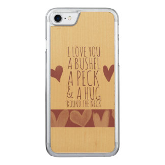 Bushel and peck carved iPhone 7 case