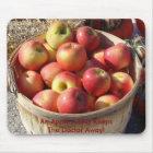 Bushel Basket Of Apples, An Apple A Day Keeps T... Mouse Pad