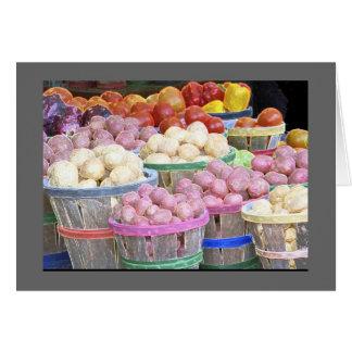 Bushels of Potatoes at the Jean Talon Market Card