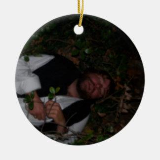 bushes round ceramic ornament