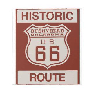 BUSHEYHEAD66 NOTEPAD