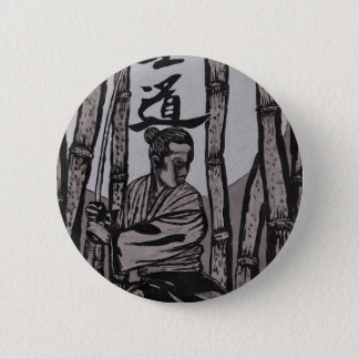 Bushido Moon  by Cartrer L. Shepard 2 Inch Round Button