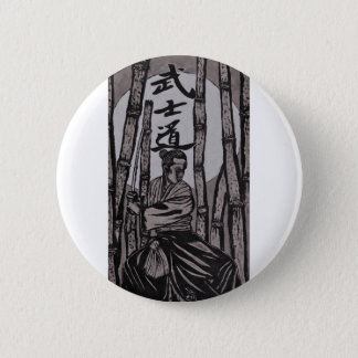 Bushido Moon light 2 Inch Round Button