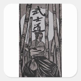 Bushido Moon light Square Sticker